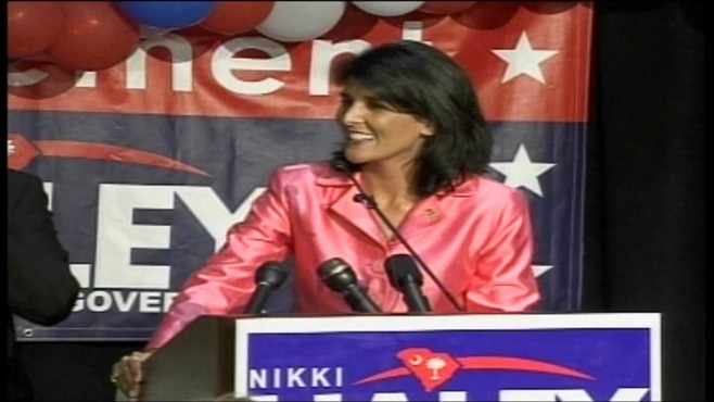 VIDEO of Nikki Haley accepting the GOP nomination for Governor of South Carolina