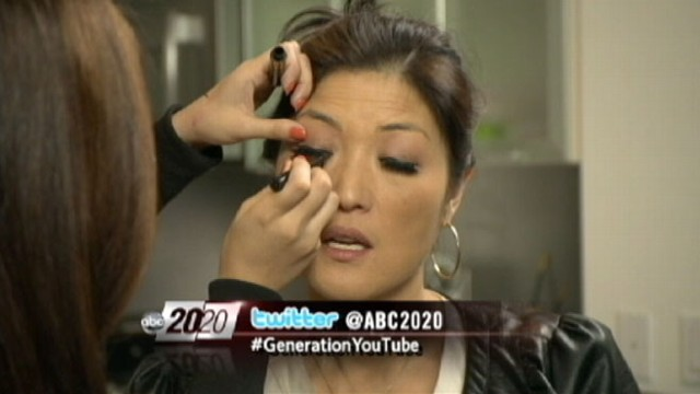 Juju Chang gets a Lady Gaga makeover from YouTube make-up phenom Michelle Phan.