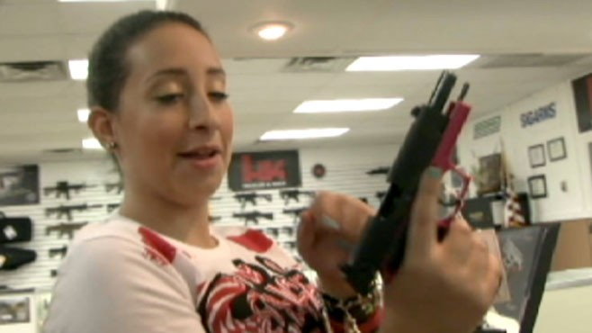 VIDEO: Extreme parenting: Designer Lana Fuchs shares her love of guns with ...