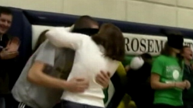 VIDEO: 2011: At a Minnesota high school, students were blindfolded, tricked into kissing their own parents.