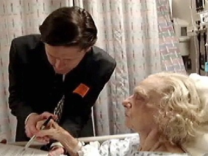 VIDEO: Elder Abuse? Ailing Woman Signs New Will