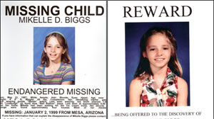 11 year-old Mikelle Biggs was alone for less than two minutes when she vanished on January 2, 1999, waiting for an ice cream truck in their Mesa, Arizona neighborhood. It would become the largest investigation in the states history.