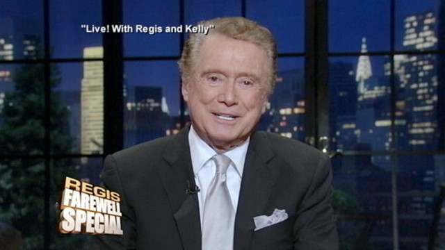 VIDEO: Regis Philbin joins long line of departing hosts, from Johnny Carson to Oprah.