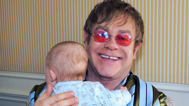 PHOTO:Proud fathers Sir Elton John and his partner David Furnish talk exclusively to Barbara Walters in their first major U.S. television interview since son Zachary was born.