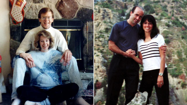PHOTO: Letters penned by Julie Jensen and Faylene Grant before they died became the centerpiece of their husbands murder trials. Julie and Mark Jensen (left), and Faylene and Doug Grant.