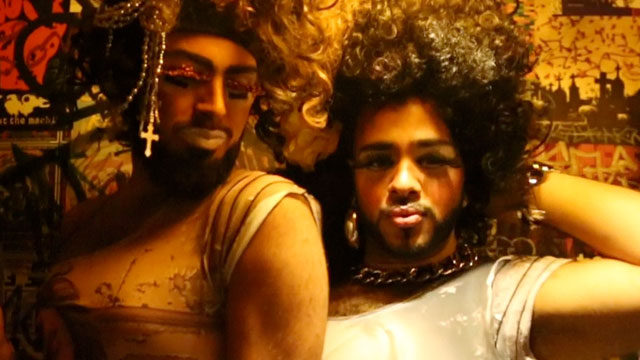 "Gio Profera, aka Juleisy, and Josue Garcia, aka Karla, are the duo behind the gender bender drag show ""Hialeahs Finest"", which is based on their experiences growing up in the mostly Cuban city."