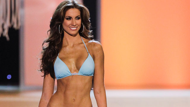 PHOTO: Miss Alabama, Katherine Webb, competing in the swimsuit competition during the 2012 Miss USA pageant in Las Vegas.