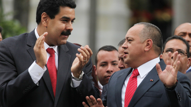 PHOTO: The recently re-elected National Assembly President Diosdado Cabello, right, speaks with Vice-President Nicolas Maduro. Both men could be successors to President Hugo Chavez, if he fails to recover from cancer surgery in Cuba.