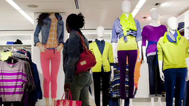 PHOTO: A customer passes merchandise at a J.C. Penney store in New York. J.C. Penney