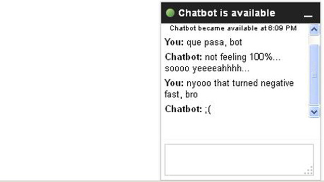 PHOTO: Awkward chat bot teaches us Internet jargon