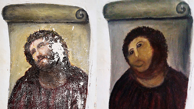 PHOTO: Botched 'Ecce Homo'