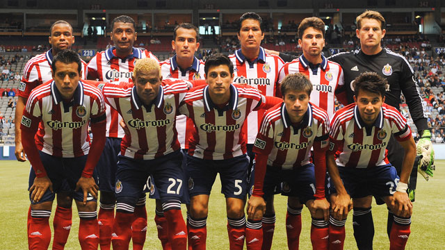 PHOTO: The starting eleven of Chivas USA pose for a photo prior to their match against the Vancouver Whitecaps in Vancouver, British Columbia, Canada. The team recently stacked its roster with Mexican players, and got rid of most non-Mexicans.