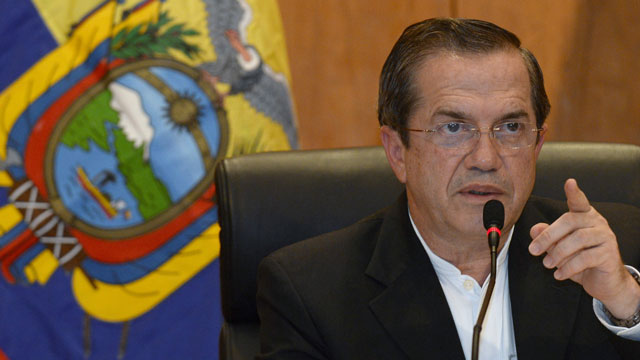 PHOTO: During a visit to Vietnam, Ecuadors Foreign Minister Ricardo Patino said his country was analysing a request for asylum by fugitive US intelligence leaker Edward Snowden.