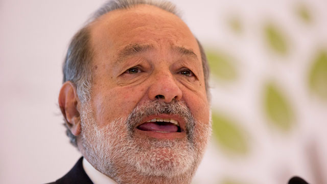 PHOTO: In a Monday, Jan. 14, 2013 file photo, Mexican telecommunications tycoon Carlos Slim speaks at the Soumaya museum in Mexico City. Forbes magazine said on March 4, 2013, that Mexicos Carlos Slim remains the worlds richest man.