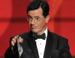 PHOTO: In this Sept. 23, 2012 file photo, Stephen Colbert presents an award onstage at the 64th Primetime Emmy Awards at the Nokia Theatre in Los Angeles.
