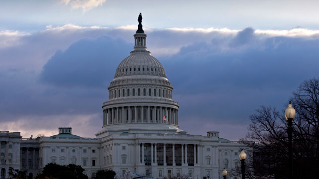 """PHOTO:The U.S. Capitol is seen as Congress convenes to negotiate a legislative path to avoid the so-called """"fiscal cliff"""" of automatic tax increases and deep spending cuts that could kick in Jan. 1., in Washington, Sunday, Dec. 30, 2012."""