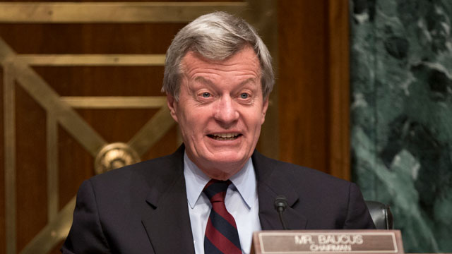 PHOTO: In this April 17, 2013 file photo, Senate Finance Committee Chairman Sen. Max Baucus, D-Mont. is seen on Capitol Hill in Washington.
