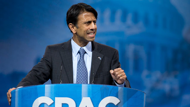 PHOTO: Louisiana Gov. Bobby Jindal gestures as he speaks at the 40th annual Conservative Political Action Conference.