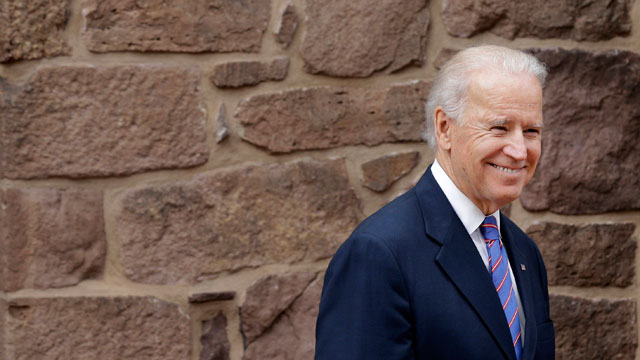 PHOTO:Vice President Joe Biden walks out to a ceremony in New Castle, Del., Tuesday, March 26, 2013, at First State National Monument, which was designated a national monument by President Barack Obama on Monday.