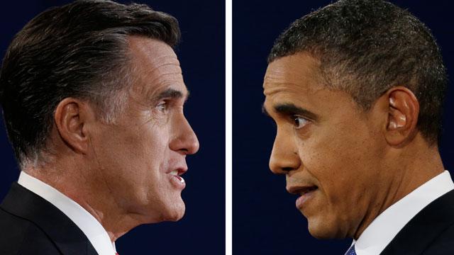 PHOTO:Romney Obama