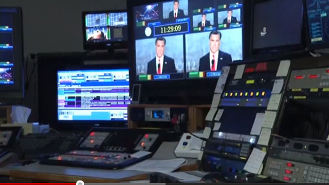 PHOTO: This undated frame grab taken from AP video shows a control room at television station WDBJ7 in Roanoke, Va.