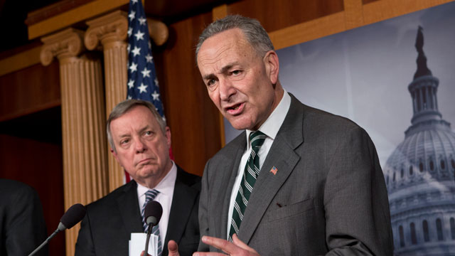 PHOTO:Sen. Charles Schumer, D-N.Y., right, and Sen. Dick Durbin, D-Ill., left, are part of a bipartisan group of senators negotiating an immigration overhaul.