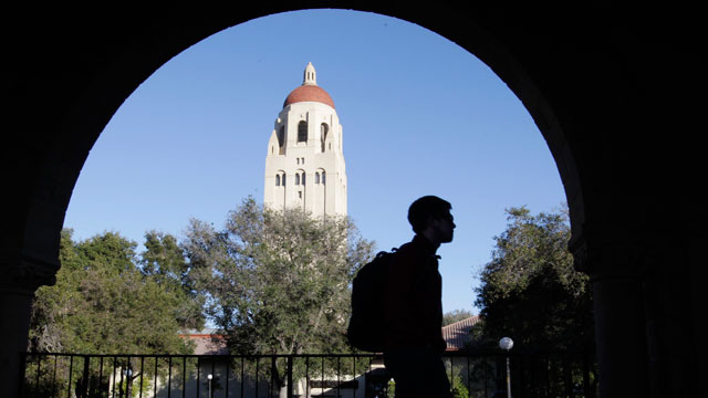 PHOTO: In this Feb. 15, 2012 file photo, a Stanford University student walks on the Stanford University campus in Palo Alto, Calif. The rate for subsidized Stafford loans is set to increase from 3.4 percent to 6.8 percent on July 1.