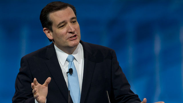 PHOTO: Sen. Ted Cruz speaks at the 40th annual Conservative Political Action Conference in National Harbor, MD., Saturday, March 16, 2013.