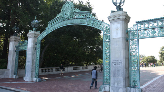 PHOTO: Berkeleys Sather Gate. UC Berkeley unveiled a $1 million scholarship fund -- the largest of its kind -- for undocumented students.