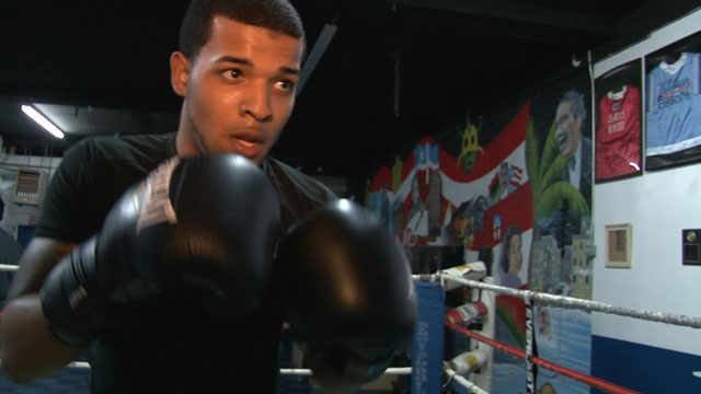 PHOTO: Enrique Rijos, 20 year-old boxing student.