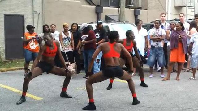 PHOTO:A J-Sette battle during Mobiles Pride celebrations.