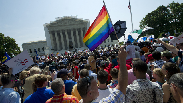 PHOTO:Until Wednesday, when the Defense of Marriage Act was overruled by the Supreme Court, only marriages between a man and a woman were recognized under immigration law.