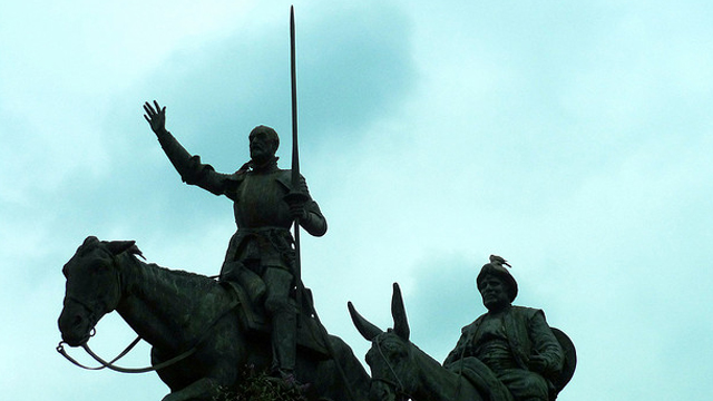 PHOTO:Statues of Don Quixote and Sancho Panza in Brussels, Belgium.