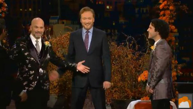 PHOTO:Conan O'Brien officiates a televised gay wedding