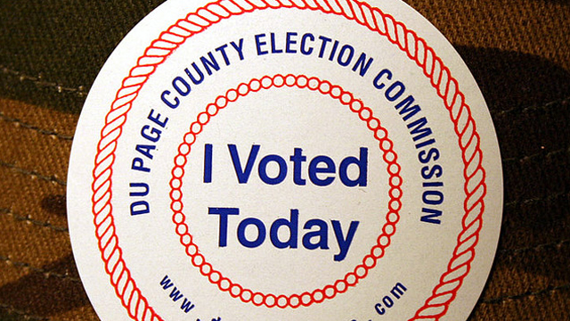 PHOTO: Many Americans don I Voted stickers on election day, distributed at polling locations.