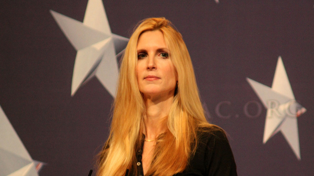 PHOTO:Conservative commentator Ann Coulter cited public intellectual Charles Murray in her attack on Latino voters last week.