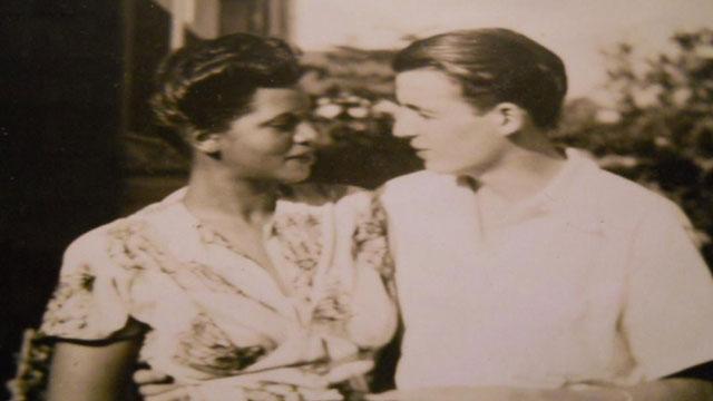 PHOTO:WWII Nurse, Elinor Powell and German soldier, Frederick Albert