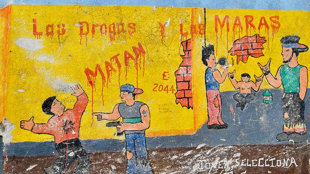 PHOTO:Mural in Antigua Guatemala, Sacatepequez, Guatemala.