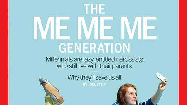 PHOTO: The cover of TIME's millennial issue.