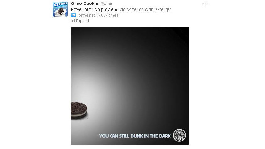 PHOTO: Oreo reminds us that snacking in the dark is just as delicious.
