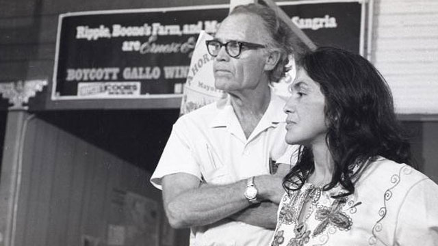 PHOTO: Fred Ross Sr. and Dolores Huerta