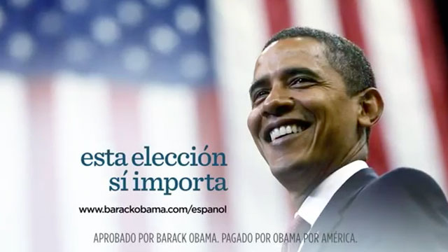 PHOTO:Democrats spent more on Spanish-language ads than Republicans in the 2012 presidential race.