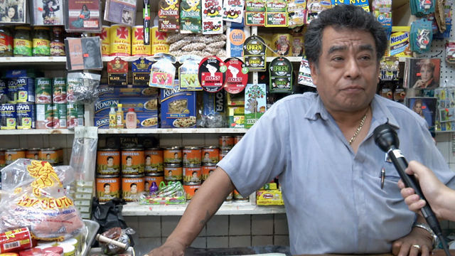 PHOTO:Francisco Garcia, owner of Mexico Lindo Grocery, says Bloombergs sugar ban will put a strain on local store owners.