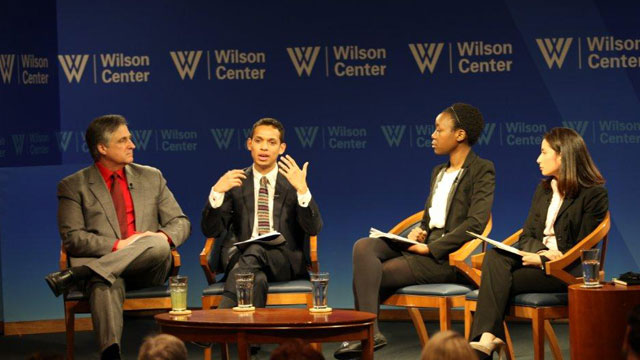 PHOTO: Georgetown students talk about life as undocumented immigrants at the Wilson Center in Washington, DC, on Feb. 21, 2013.