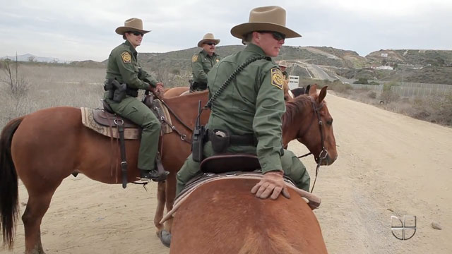 PHOTO: A low tech, but effective tool, horseback border patrol units are increasing in the San Diego area.