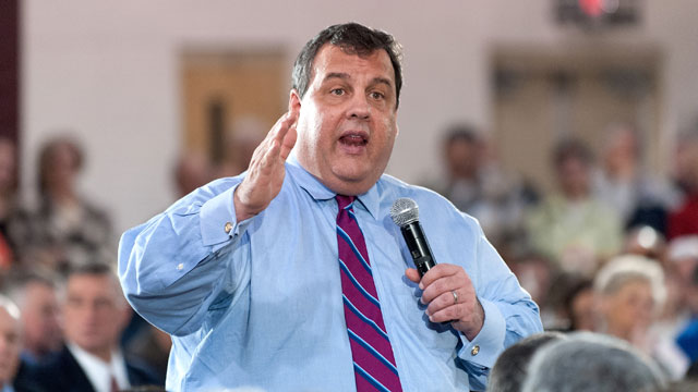PHOTO:New Jersey Governor Chris Christie speaks during his 100th Town Hall Meeting at St. Mary's Parish Center on January 16, 2013 in Manahawkin, New Jersey.