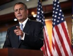PHOTO: Speaker of the House John Boehner (R-Ohio) speaks during his weekly news conference June 6, 2013 on Capitol Hill in Washington, D.C.