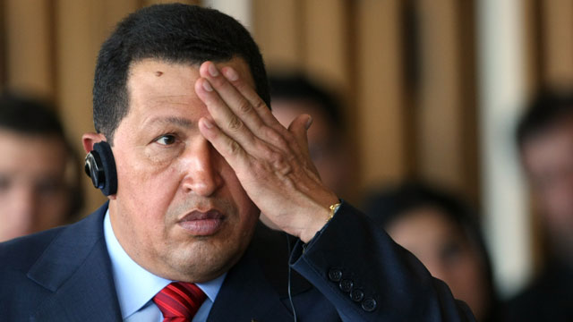 PHOTO: Hugo Chavez had a few theories to share.
