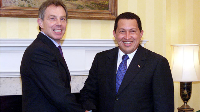 PHOTO: Chavez had a few opinions about Tony Blair.