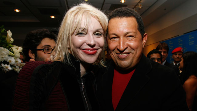 PHOTO: Chavez and Courtney Love.